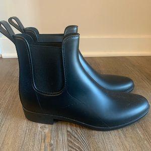Jcrew Black Chelsea Style Rainboots